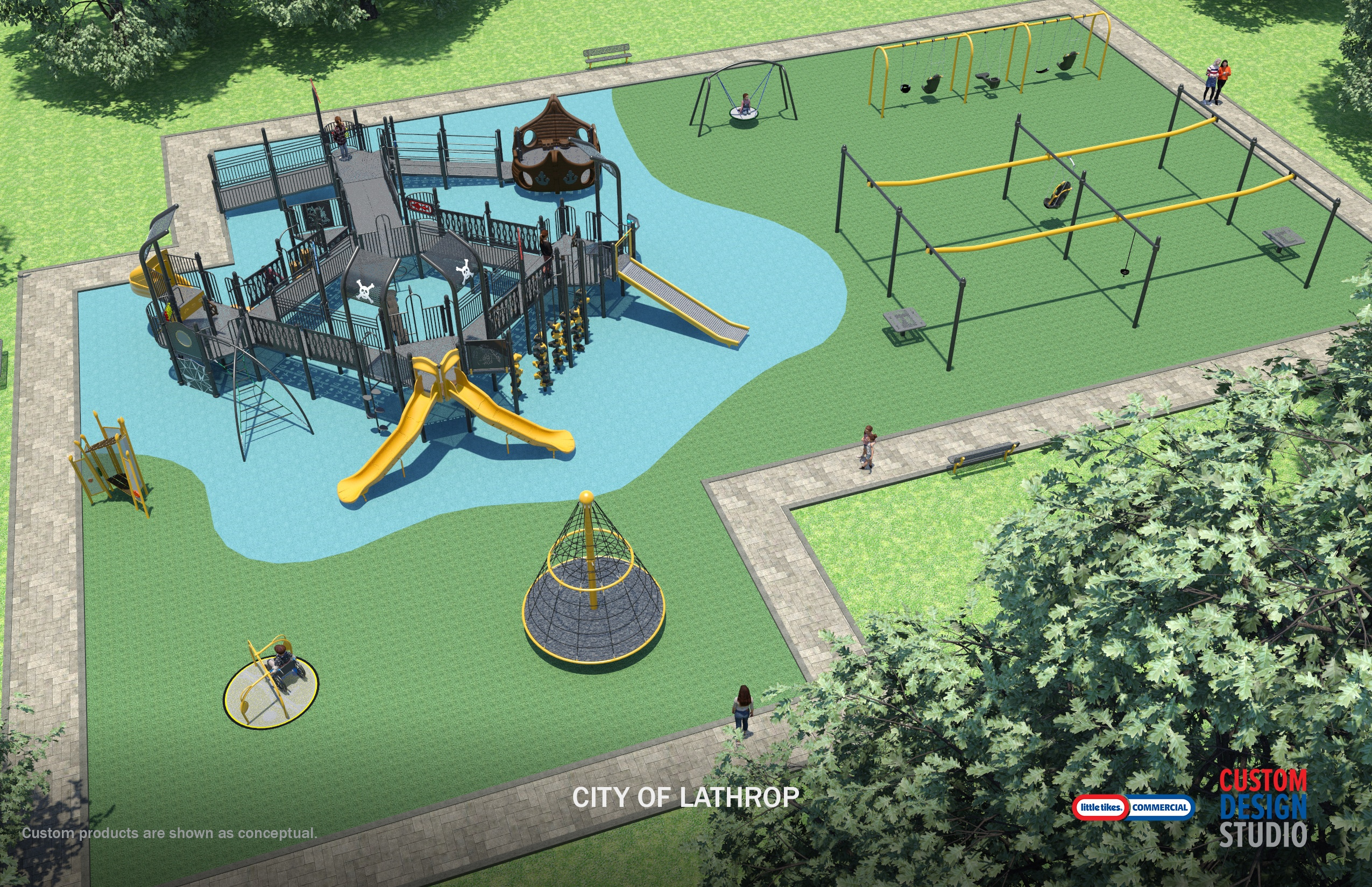 City of Lathrop Playground View
