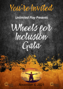 Poster for wheels of inclusion Gala